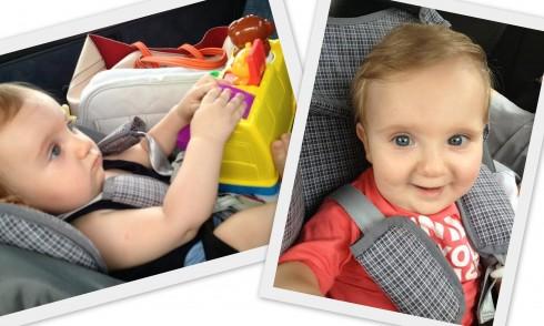 Lorenzo, filho da Mariana, viajando de carro aos 8 meses!
